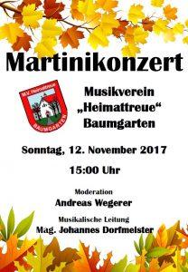 Plakat Martinikonzert 2017